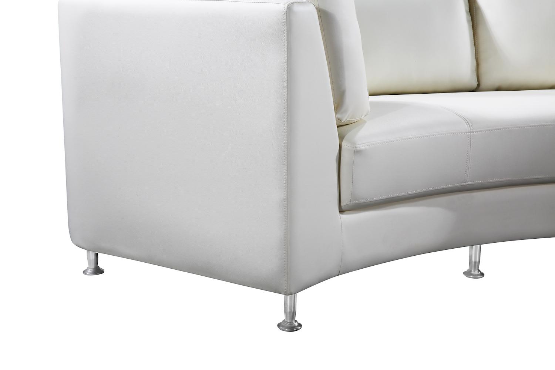 Stupendous White Leather Rossini Circular Sofa Leg By Velago Velago Dailytribune Chair Design For Home Dailytribuneorg