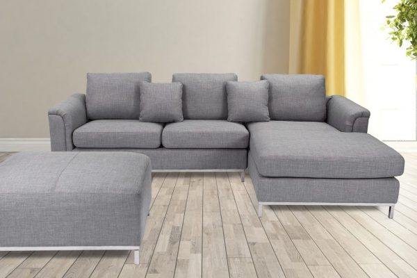 Indoor Dark Gray OLLON Fabric Sectional Sofa by Velago