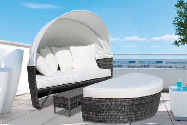 Deluxe Grey Outdoor Daybed