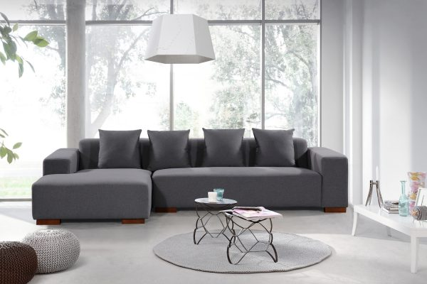 Grey Fabric LYON Sectional Sofa by Velago