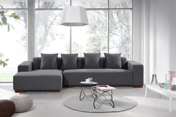 Grey Fabric LYON Sectional Sofa by Velago