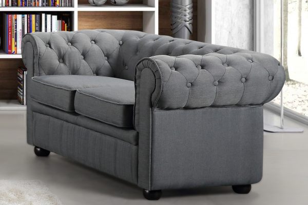 19194 Dark Grey Fabric Loveseat Avignon by Velago