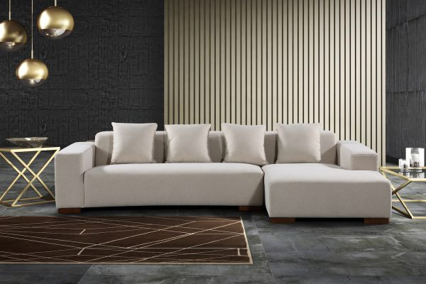 22347 Sectional Fabric Sofa Lyon Beige