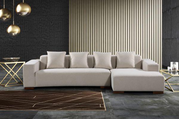 22347 Sectional Fabric Sofa Lyon Beige
