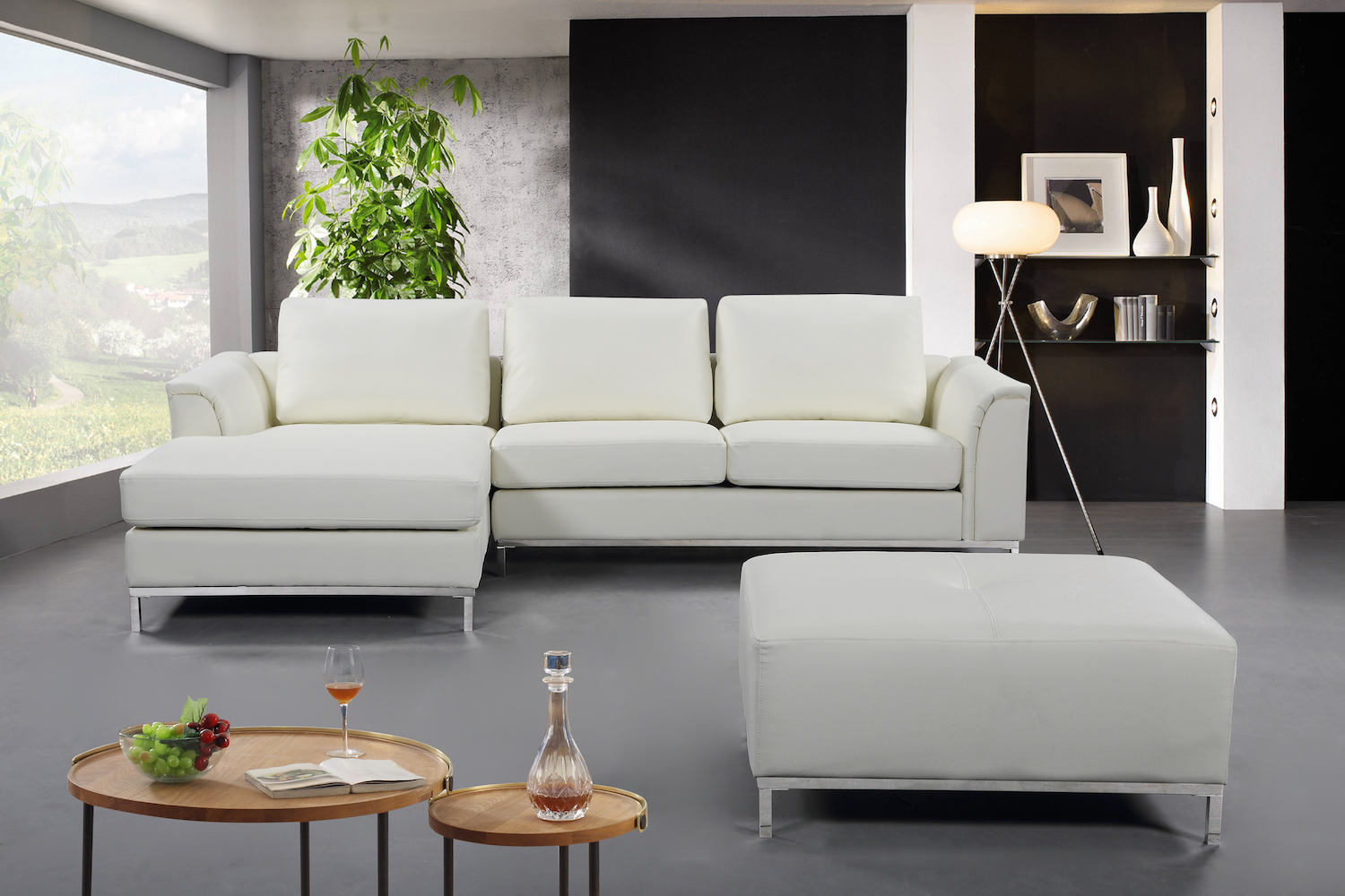 Modern Cream Leather Sectional Sofa Furniture That Looks Great