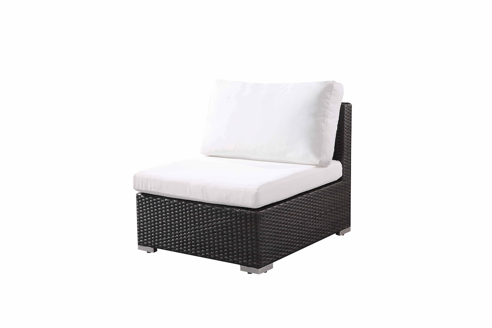 Large Outdoor Wicker Sectional Lounge