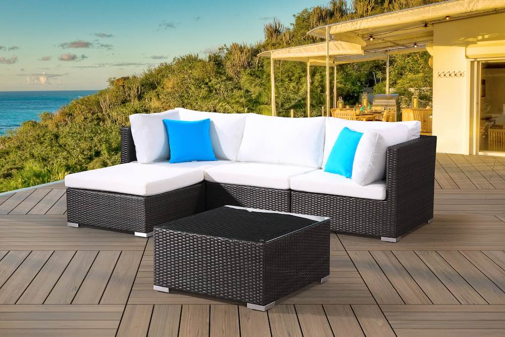 modern wicker outdoor sofa set velago patio furniture rh velagopatiofurniture com